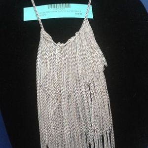 """15"""" Silver Waterfall necklace SUPER COOL PIECE"""